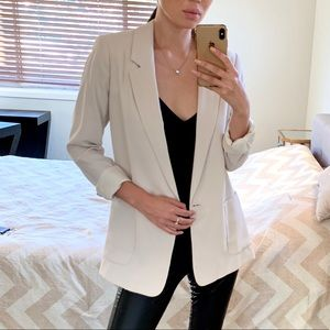 ZARA Cream Blazer Jacket